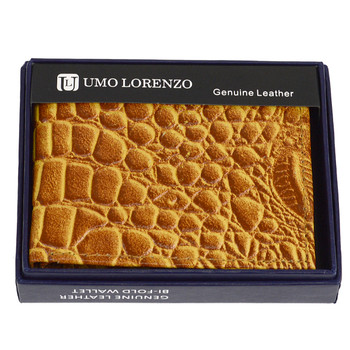 Bi-Fold Genuine Leather Tan Wallet MLCR2448TAN