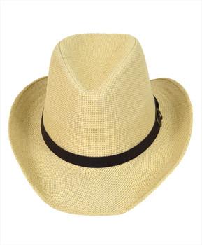 "6pc 2.5"" Brim Cowboy Fedora Hats - H9217"