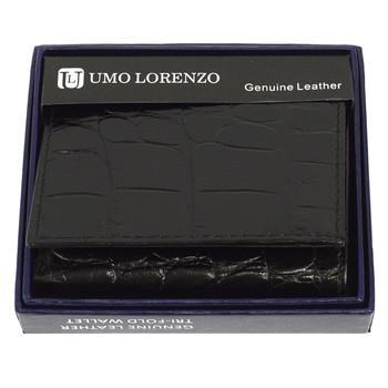 Tri-Fold Genuine Leather Black Wallet CCG96BK