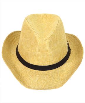 "6pc 2.5"" Brim Cowboy Fedora Hats - H9214"