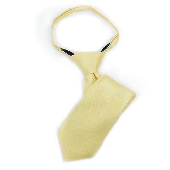 "Boy's 11"" Geometric Yellow Zipper Tie"