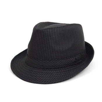 Fall/Winter Hounds Tooth Trilby Fedora Hat - H10330