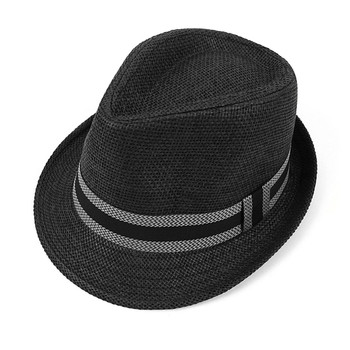 Spring/Summer Trilby Fedora Hat with Band Trim - H10208