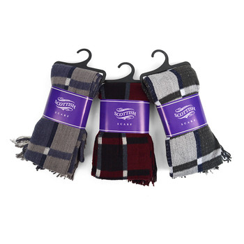 12pc Assorted Pack Scottish Acrylic Winter Scarf - AKS10413ASST