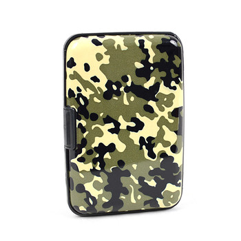 12pc Pack Card Guard Aluminum Compact Wallet Credit Card Holder with RFID Protection - Camo