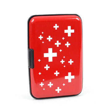12pc Pack Card Guard Aluminum Compact Wallet Credit Card Holder with RFID Protection - Cross