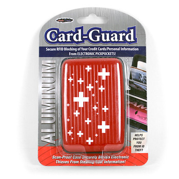 Card Guard Aluminum Compact Wallet Credit Card Holder with RFID Protection - Cross