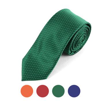 "Pin Dots Microfiber Poly Woven 2.25"" Slim Tie - MPWS5702"