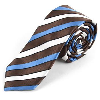 "Striped Microfiber Poly Woven 2.25"" Slim Tie - MPWS5718"