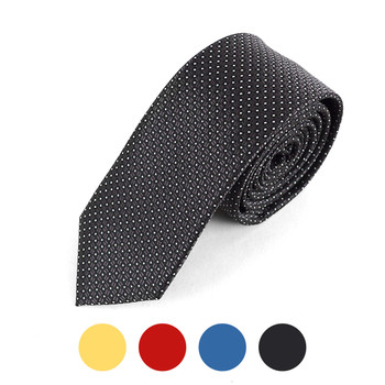 """Dotted Microfiber Poly Woven 2.25"""" Slim Tie - MPWS5708"""