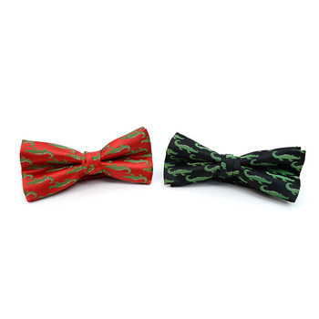 Men's Alligator Banded Bow Tie