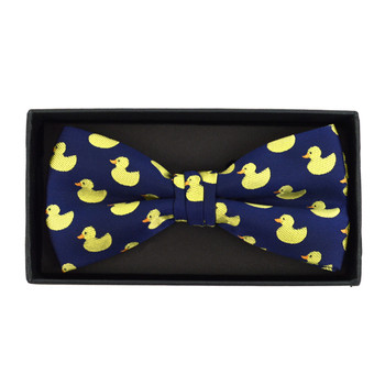 Men's Blue Duck Banded Bow Tie