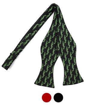 Men's Alligator Self-Tie Freestyle Bow Tie