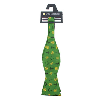 Men's Green Anchor Self-Tie Freestyle Bow Tie