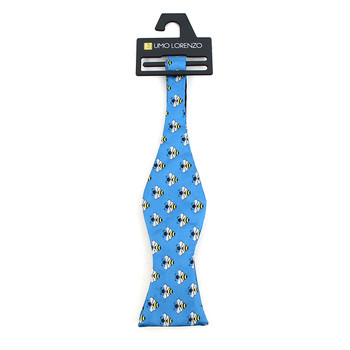 Men's Blue Bee Self-Tie Freestyle Bow Tie
