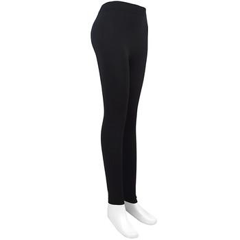 12 Pack Ladies Footless Solid Black Leggings - L1000