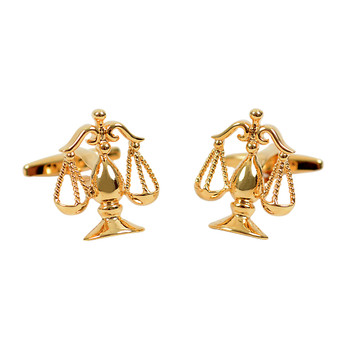 Gold Law Justice Symbol Novelty Cufflink NCL1704