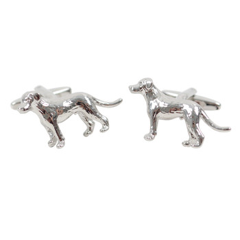Silver Dog Novelty Cufflink NCL1707-1