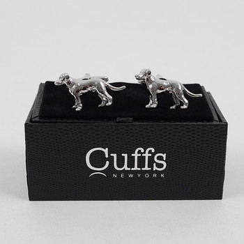 Silver Dog Novelty Cufflinks NCL1707-1