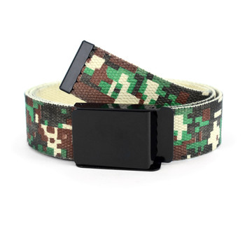 12pc Size Assorted Men's Flip-To Buckle Military Camo Canvas Belt MILB3305