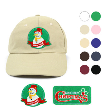 Winter Holiday Traditional Cotton Twill Embroidery Patch Blank Baseball Cap, Hat
