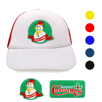 Winter Holiday Two Tone Foam Front Embroidery Patch Mesh Back Trucker Cap, Hat