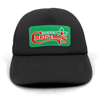 Winter Holiday Foam Front Mesh Back Embroidery Patch Trucker Cap, Hat