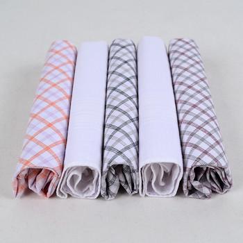 Men's Boxed Fancy Cotton Handkerchiefs 5pcs Set FH005