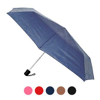 Polka-Dot Telescopic Hand Open Umbrella UM3115