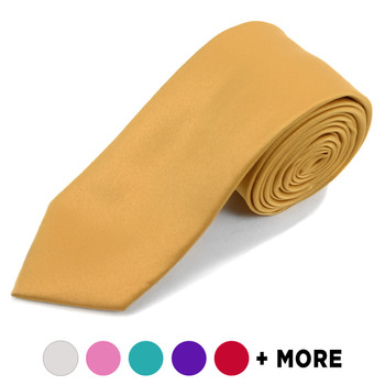 "[Promotion] Poly Satin Solid 2.5"" Slim Tie PSSP2501"