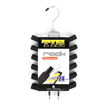 Non-Slip Foam Chrome Plated Tie Rack TR20