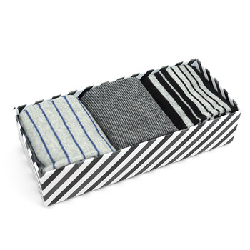 Fancy Multi Colored Socks Striped Gift Box (3 Pairs in Box) MFS1019