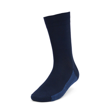 3pcs (3 Pairs) Men's Navy Striped Fancy Dress Socks 3PKS-DRSY6