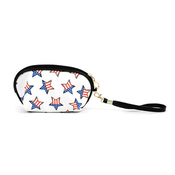 3pc USA Stars Cosmetic Bags with attached Mirror LNCB1606