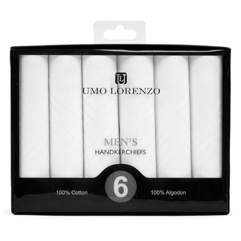 Boxed Men's Cotton Plain Handkerchiefs 6pcs Set HB006