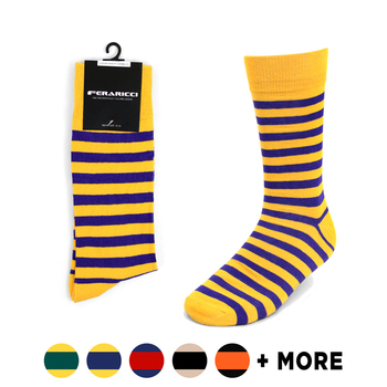 Men's College Striped Feraricci Sock MCS2400
