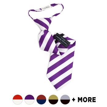 "Boy's 14"" Microfiber Poly Woven College Zipper Tie MPWBZ"