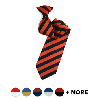 Men's Microfiber Poly Woven College Clip-On Tie MPWCL