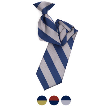 Men's Microfiber Poly Woven College Clip-On Tie MPWCLW
