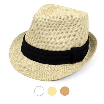 Spring/Summer Classic Style Fashion Trilby Fedora with Black Band FSS17110