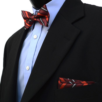 24pc Assorted Men's Fancy Banded Bow Tie & Hanky BTH3000