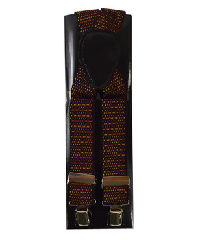12pc Men's Fancy Clip Suspenders FCS4711