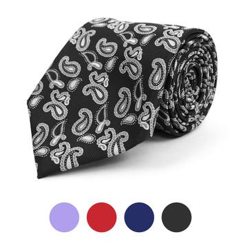 Paisley Microfiber Poly Woven Tie - MPW5813
