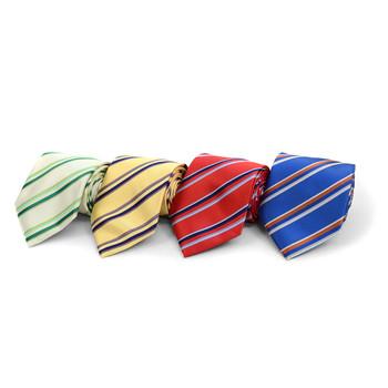 Striped Microfiber Poly Woven Tie - MPW5824