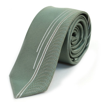"Olive Microfiber Poly Woven 2.25"" Slim Panel Tie - MPPW1604"