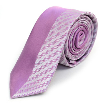 "Lavender Microfiber Poly Woven 2.25"" Slim Panel Tie - MPPW1609"