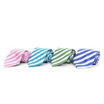 Striped Microfiber Poly Woven Tie - MPW5830