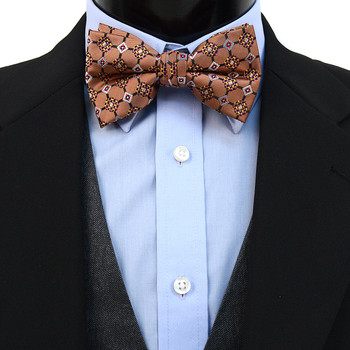 3pc Prepack Men's Poly Woven Geometric Banded Bow Tie FBB5832