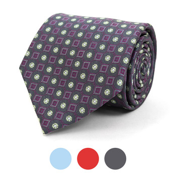 Geometric Microfiber Poly Woven Tie - MPW5834