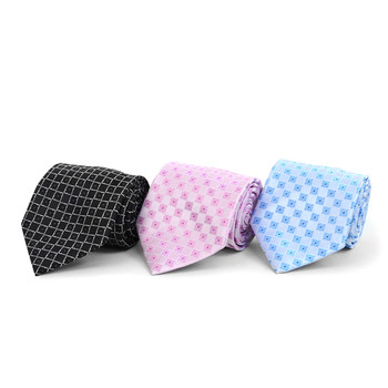 Floral Geometric Microfiber Poly Woven Tie - MPW5835